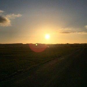 Flot solnedgang